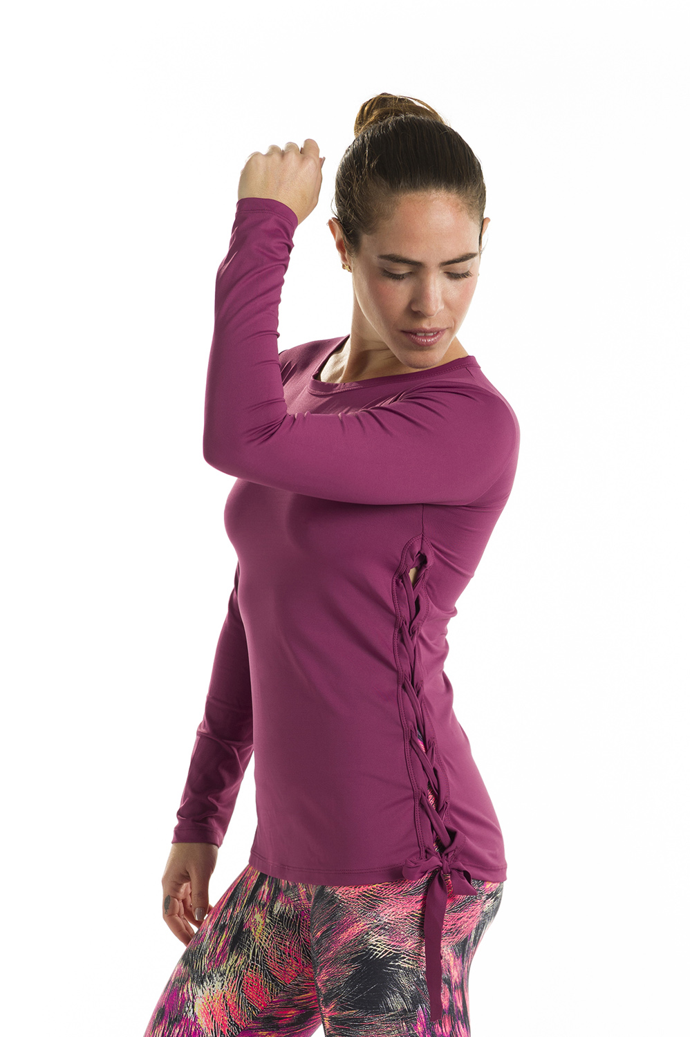 Long Sleeve Sports Top - Pink