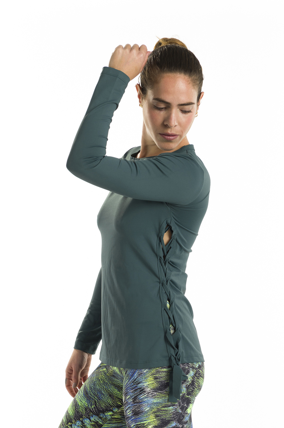 Long Sleeve Sports Top - Green